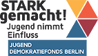 Logo Jugenddemokratiefonds Berlin